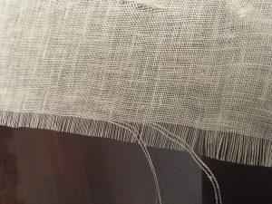 Pull ragged threads.