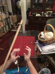 Enough cord to wrap onto stick.