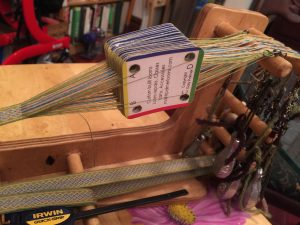 Almost done weaving.