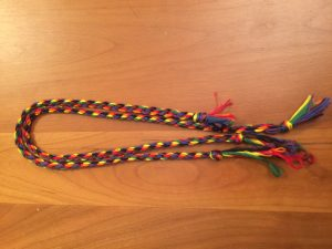 The two most satisfyingly rainbow effect cords.